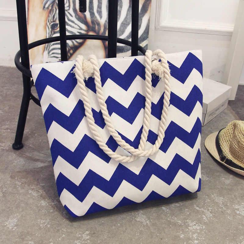 2019 Nieuwe Zomer Vrouwen Canvas Bohemian Stijl Strip Schouder Strandtas Vrouwelijke Casual Tote Shopping Big Bag Bloemen Messenger Bags