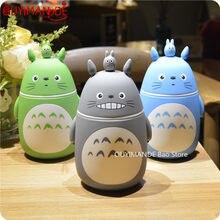 248ml yenilik sevimli karikatür Totoro taşınabilir Termos şişe yaratıcı Anime Termos bardak ve cam kupa vakum şişeler şişe