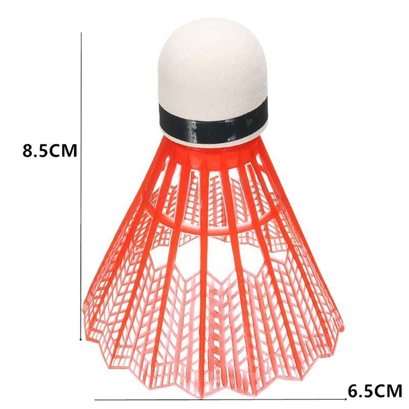 12pcs/set Colorful Shuttlecock Portable Plastic Training Badminton Ball Outdoor Sports Activities Supplies