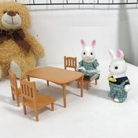 Japanese style New Style Play House Forest of Family Animal Mini Rabbit Small Doll Set Sen Beier Family