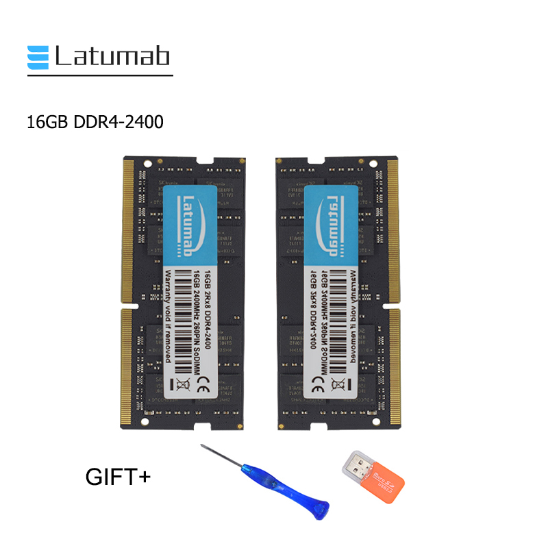 Latumab New 16GB <font><b>32GB</b></font> <font><b>DDR4</b></font> 2400mhz 2400 Laptop Memory So Dimm Memory <font><b>Ram</b></font> 260 Pins High Quality Notebook Module SODIMM <font><b>DDR4</b></font> <font><b>RAM</b></font> image