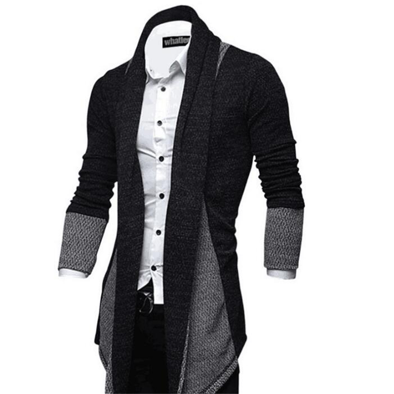 Men's Patchwork Jacket Fashion Winter Outerwear & Coats Warm Slim Long Sleeve Casual Jackets Knitted Masculina Men's Clothing