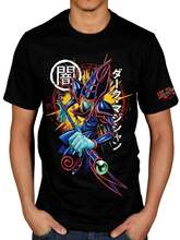 Official Yu-Gi-Oh! Dark Magician Unisex T-Shirt Card Game Anime Japenese Summer Men'S fashion Tee,Comfortable t shirt(China)
