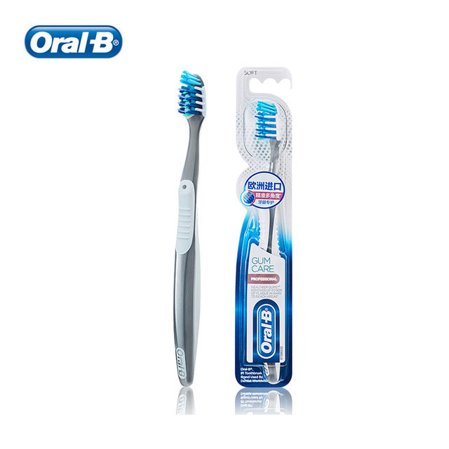 OralB ProHealth Manual Toothbrush All-In-One Angled 16 CrissCross Bristles Tongue Cleaner Manual Tooth Brush image