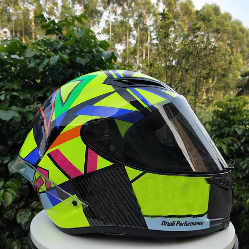 Dql Helm Sepeda Motor Pria Naik Mobil Empat Musim Keren dengan Ekor Motor Helm