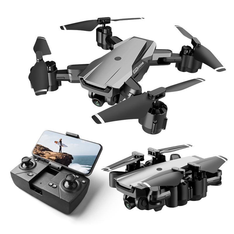 1Set GPS RC Drone 1080p 4K HD Camera Quadcopter WIFI FPV With 50 Times Zoom Foldable Helicopter Optical Flow Professional Drones