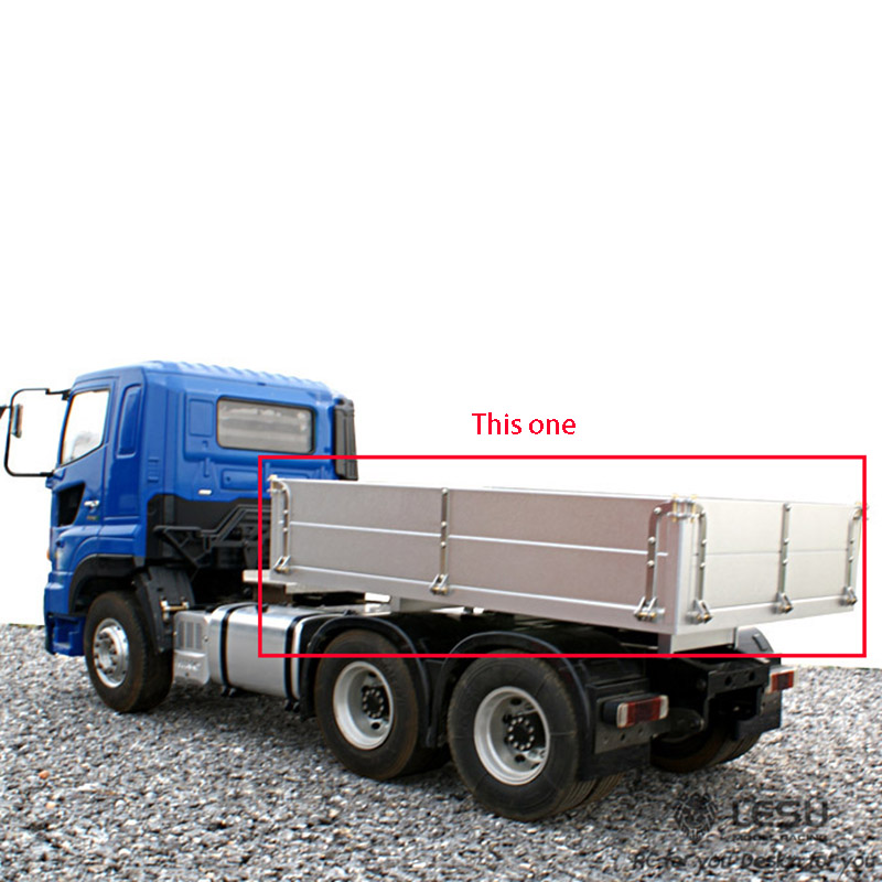 LESU Metal Exhaust Box for 1//14 Tamiya HINO700 RC Tractors Truck DIY Car Model