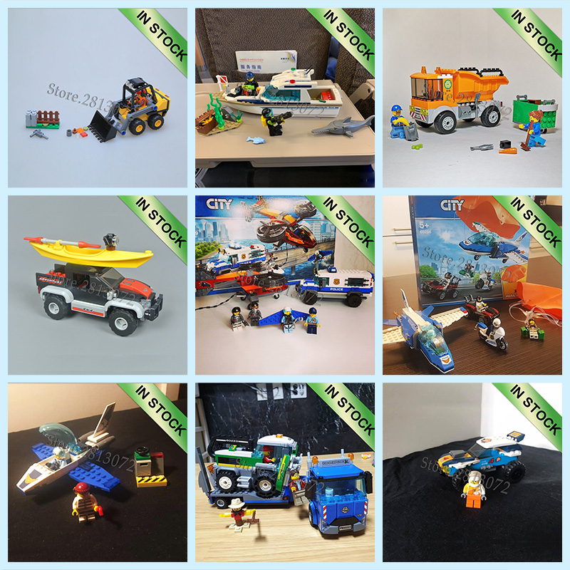 In Stock 2019  City Series Building Blocks Bricks Toys 60206 60208 60209 60218 60240 60218 60240 60219 60220 60221 60223