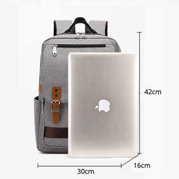 15.6 Inch Laptop Backpack Men Vintage Oxford Backpack Women School Bag Student Travel Bag Female Backpacks for Teenage Girl 2020