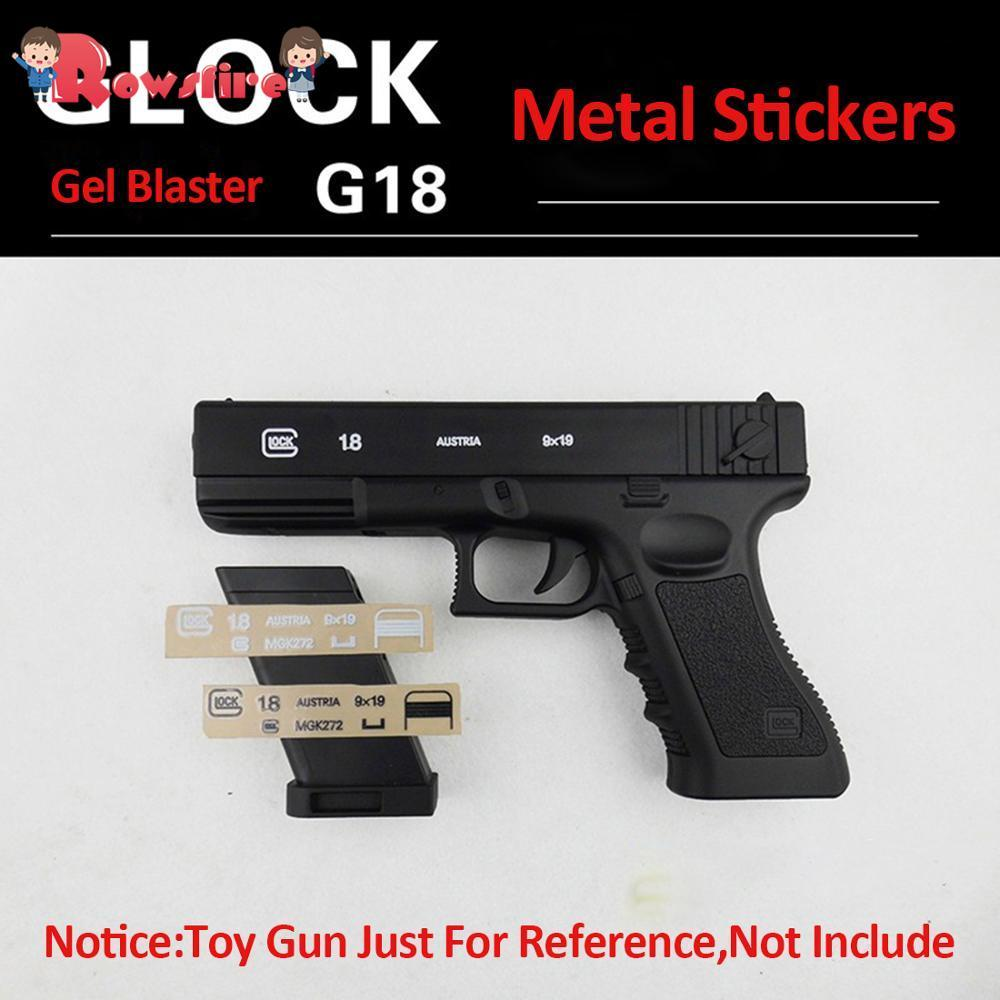 Rowsfire Metal Stickers Water Beads Accessories For SKD Glock G18 Blaster Modified Hot Accessories - Black
