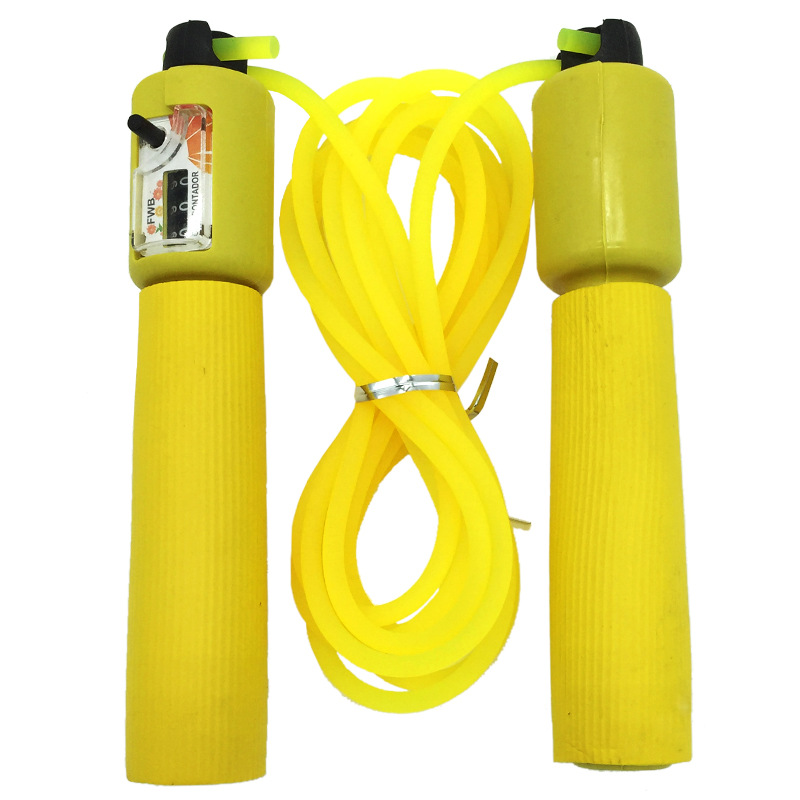 Count Jump Rope Adjustable Foam Rubber Grip Children Adult Training Sports Supplies Rubber Rope Jump Rope