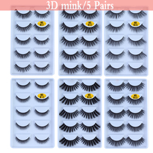 Queen New 100% 5 pairs mink eyelashes natural 3d lashes beauty 5d false Fake full strip Maquiagem