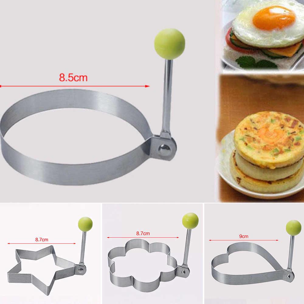Molde de molde de panqueques de acero inoxidable para cocina, molde para freír, molde para moldear huevos fritos