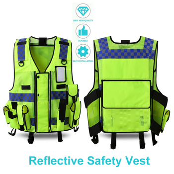 High Visibility Reflective Safety Vest Traffic Warning Waistcoat Construction Protect Clothing Sanitation Utility Workwear Vest unisex car motorcycle reflective safety clothing high visibility safety reflective vest warning coat reflect stripes tops jacket