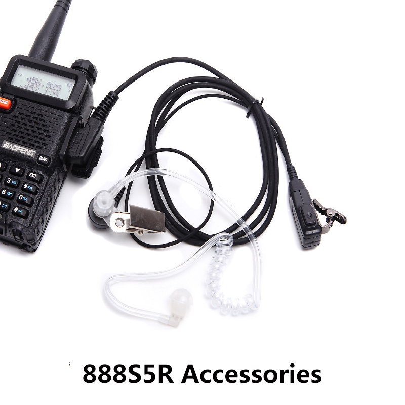 Baofeng 888S5R Walkie-talkie K-head Universal Air Duct Radiation-proof Transparent Earphone   Baofeng Air Guide Headset Line