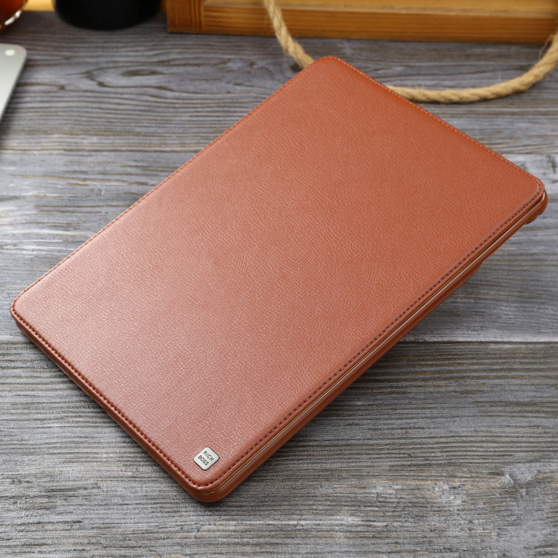 Image 1 - For iPad Air2 Case New Cowhide Genuine Leather Flip Case for iPad Air Universal Business Stand Smart Cover for Apple iPad5 iPad6Tablets & e-Books Case   -