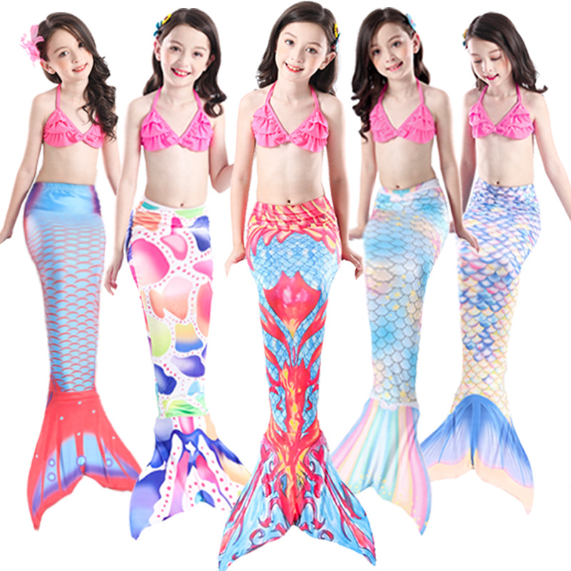 2019 Douyin Celebrity Style New Style GIRL'S-Mermaid Tail Bathing Suit Clothing Princess Item Children Mermaid Bathing Suit