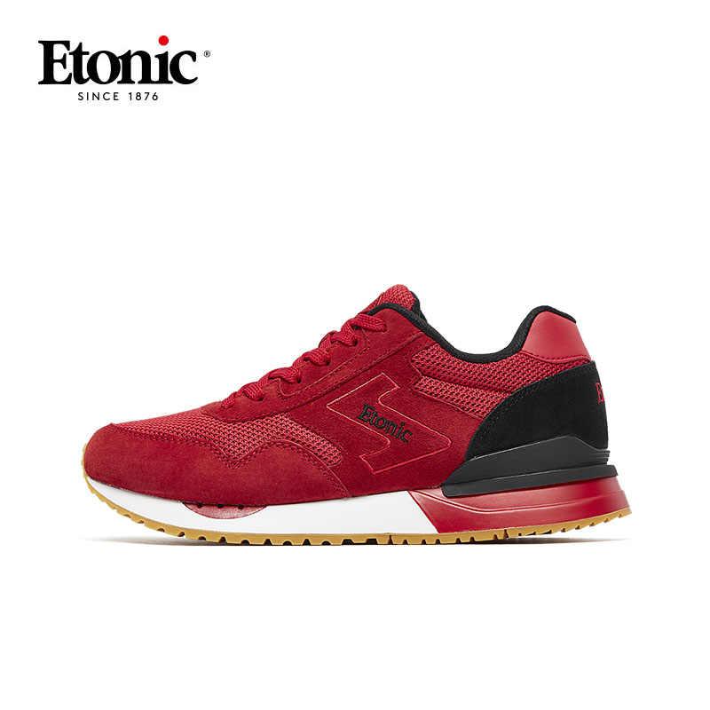 ETONIC hava Mesh nefes koşu ayakkabıları Sneakers erkekler açık ışık darbeye dayanıklı taban erkek spor ayakkabıları yürüyüş koşu ayakkabıları