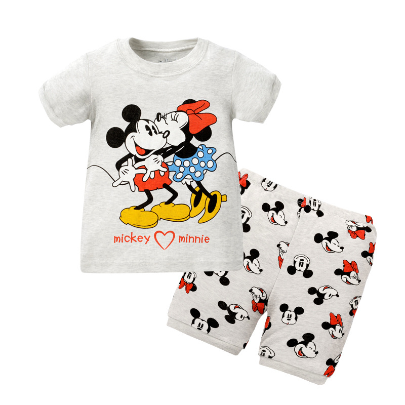 Phoebe CAT Children Tracksuit Hot Selling Foreign Trade Summer Children Home Children Clothing Home Clothes