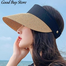 Hats Summer Fashion Panama Beach Women Straw Sun-Hat Uv-Protection Holiday Korean-Style