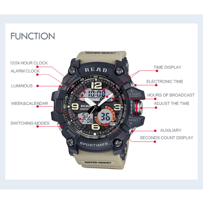 H084c997ee2534297950a9350d25a6c5bJ - READ Sport Watches for Men Waterproof Digital Watch LED Large Dail Luminous Clock Montre Homme Military Big Men Watches