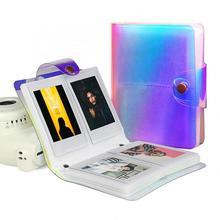 1 piezas 20/64 bolsillos transparente colorido láser foto libro álbum Fujifilm Instax los titulares de tarjetas Mini de 3 pulgadas álbum de fotos