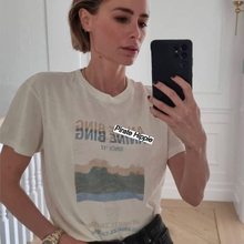 Pirate Hippie Desert Road Tee Shirts Woman Summer Short Sleeve O Neck Cotton Chic T-Shirts Casual Vintage Graphic Tshirt Top