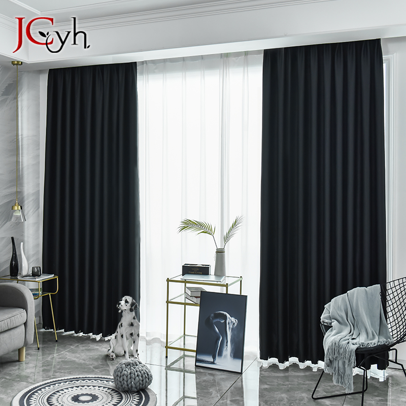 Modern Solid Blackout Curtains For Living Room Bedroom Curtains For Window Treatment Blinds Drapes Thick High Shading Curtains