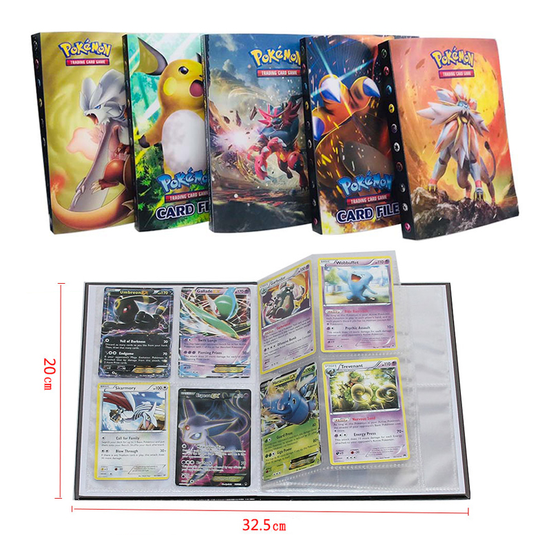 Takara Tomy Pokemon Card 240pcs Holder Album Toys For Children Collection Album Book Playing Trading Game Go For Children Toy