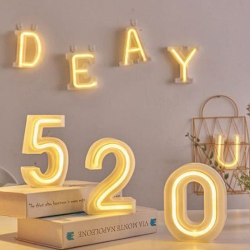 LED custom neon signs A-Z Number Letter Signage decor Indoor Warm Light Flex 3D Up Light For room Party Wedding Creative image