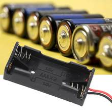 Party 10pcs 2x 3x AAA Battery Holder Battery Power Case Plastic Box with Wire Lead light balls(China)