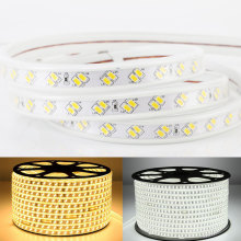 купить GD SMD LED Strip 220V 16M 20M 25M 50M Super Bright 5730 120LEDs/M LED Light Tape IP67 Waterproof AC220V LED Rope Light +EU Plug недорого