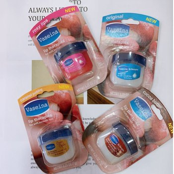7g Capacity Vaseline lip balm Vaseline Lip Pure Jelly Lip Balm Fragrant Long-lasting Moisturing 1