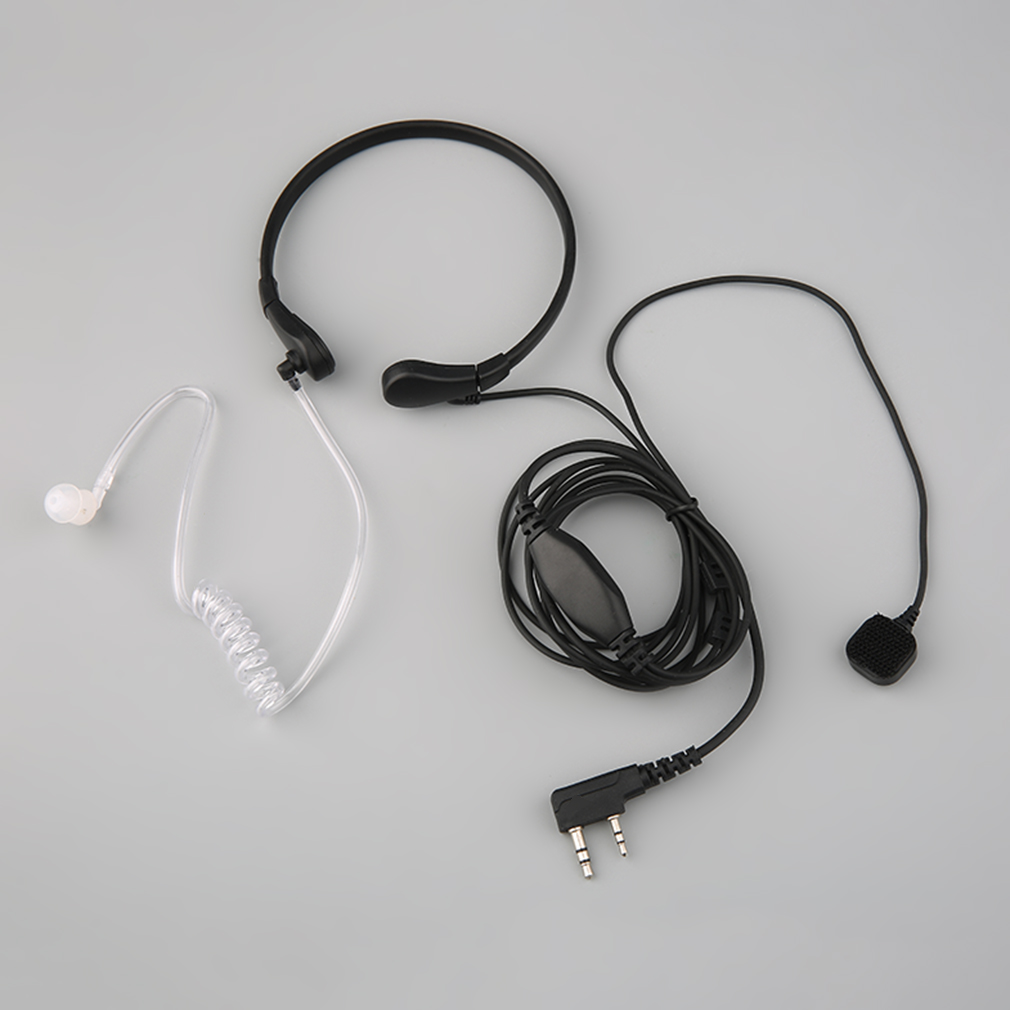 New 2 Wire Air Tube Laryngeal Shock Earphone Headset Earpiece For Kenwood Radios K Type Plug