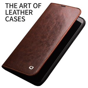 Image 2 - QIALINO Genuine Leather Flip Case for iPhone 11/11 Pro Max Handmade Phone Cover with Card Slots for iPhone 12 Mini/12 Pro Max