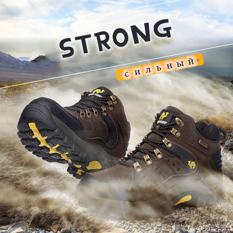 Image 2 - Trendy Classic Men Ankle Boots Wear Resisting Hiking Shoes Cow  Suede Men Boot Comfortable Walking Sneaker For Man Tactical ShoesBasic  Boots