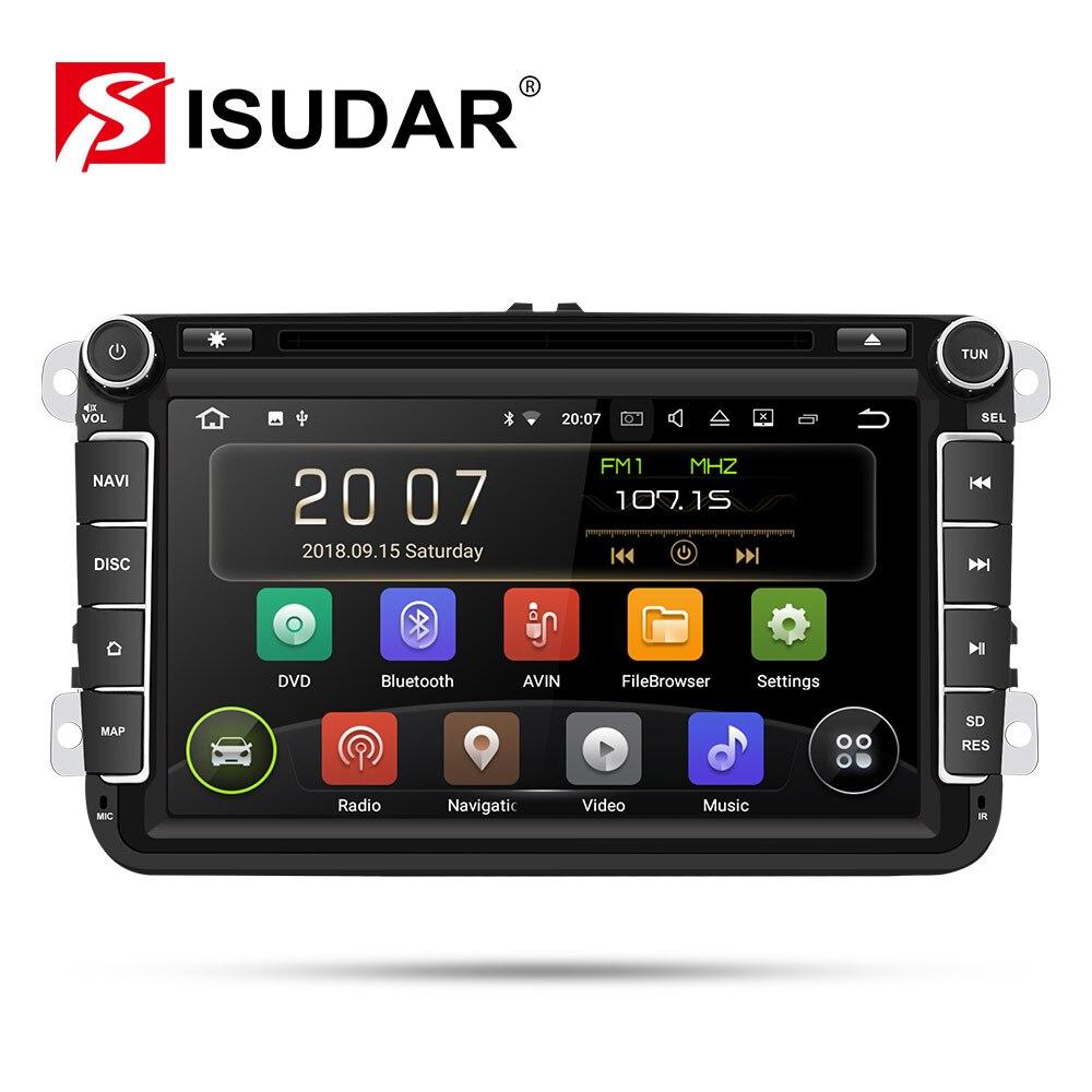 Isudar 9 2 Din Rádio Auto Android Para VW/Golf/Tiguan/Skoda/Fabia/Rápido/ assento/Leon Multimídia Player De Vídeo de Navegação GPS Do Carro DVR
