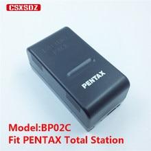 Pentax Total Station Батарея BP02C, подходит для Pentax R200, R202, R300, R-100X, R-200X, R-300X, R-322NX, R-322NXM, R-325NXM, R800