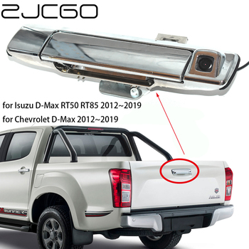 ZJCGO HD CCD Car Rear View Reverse Back Up Parking Trunk Handle Camera for Isuzu for Chevrolet D-Max DMax RT50 RT85 2012~2019