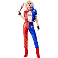 Women Suicide Squad Clown Harley Quinn Dress up Halloween Cosplay Fancy Dress Carnival Costume