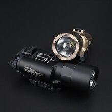 WADSN טקטי Surefir X300 פנס אולטרה אקדח Lanterna אור LED 510 Lumens גבוה אור X300U Softair לפידים נשק אורות