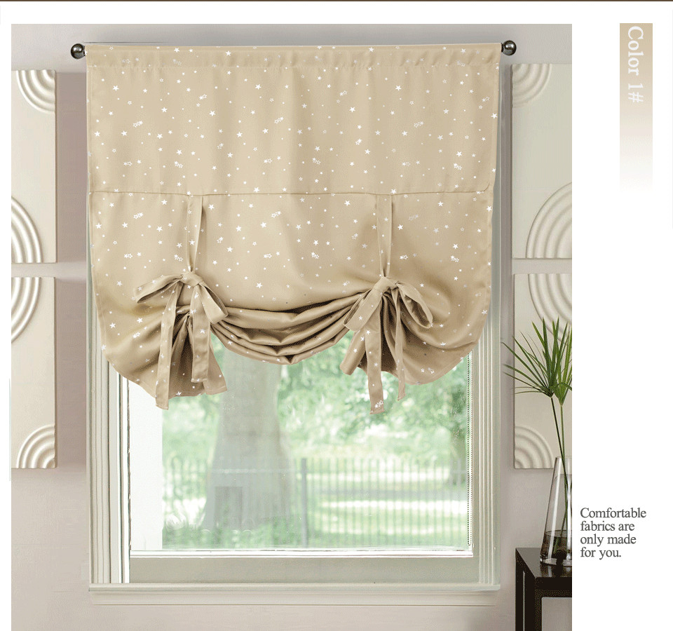 2019 ICECUR Hot Silver Stars Short Curtains Kitchen Roman Blinds Modern  Blackout Curtains Single Panels Solid Roman Curtain Drapes From Georgely,  ...