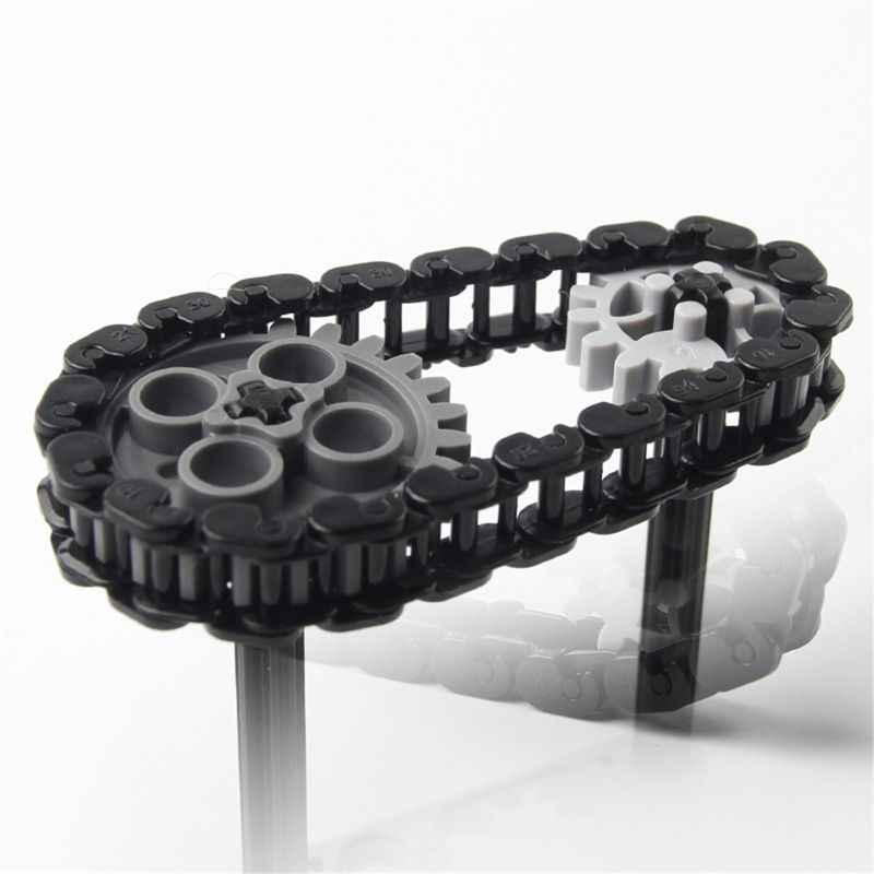 الطوب تكنيك أجزاء السائبة سلسلة ربط 3711 والعتاد خزان المسار فقي دراجة نارية متوافق اللبنات لعبة