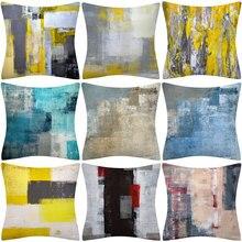 1Pcs Kleur Geometrische Patroon Decoratieve 45*45Cm Kussenhoes Polyester Worp Kussensloop Sofa Thuis Decoratieve Kussensloop 41029