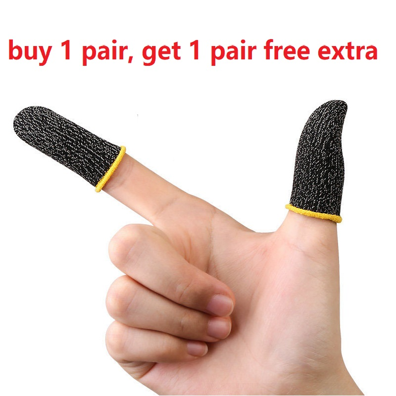 Luva sensível do dedo do controlador das pontas dos dedos do jogo respirável para pubg luvas do polegar do jogo da tela de toque do risco da prova do suor não