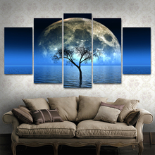Wall Art Canvas Painting HD Print Modular Framework Seaview 5 Pieces Popular Picture Landscape For Living Room Decor Poster