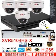 Mutil sprache Dahua H.265 XVR video recorder 4CH DH-XVR5104HS-X mit 4 stücke 2MP 4x ptz CVI dome kamera system kit