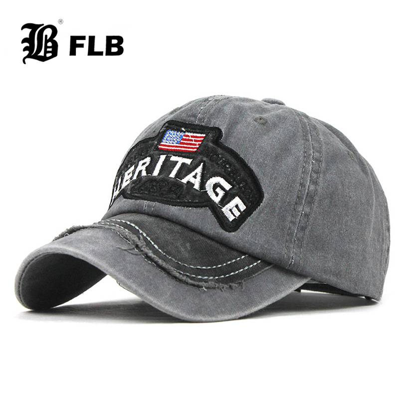 [FLB] Wash Cotton Hat Gorras Brand Flag Men Baseball Cap Mens Snapback Bone Adjustable Wonmen Baseball Hat Snapback Hat F318