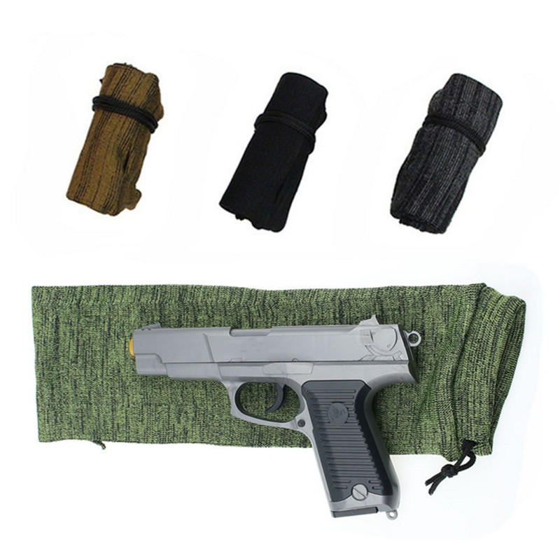 Silicone Treated Rifle Gun Sock Polyester Knitted Dust Protective Cover Shotgun Storage Bag Holster