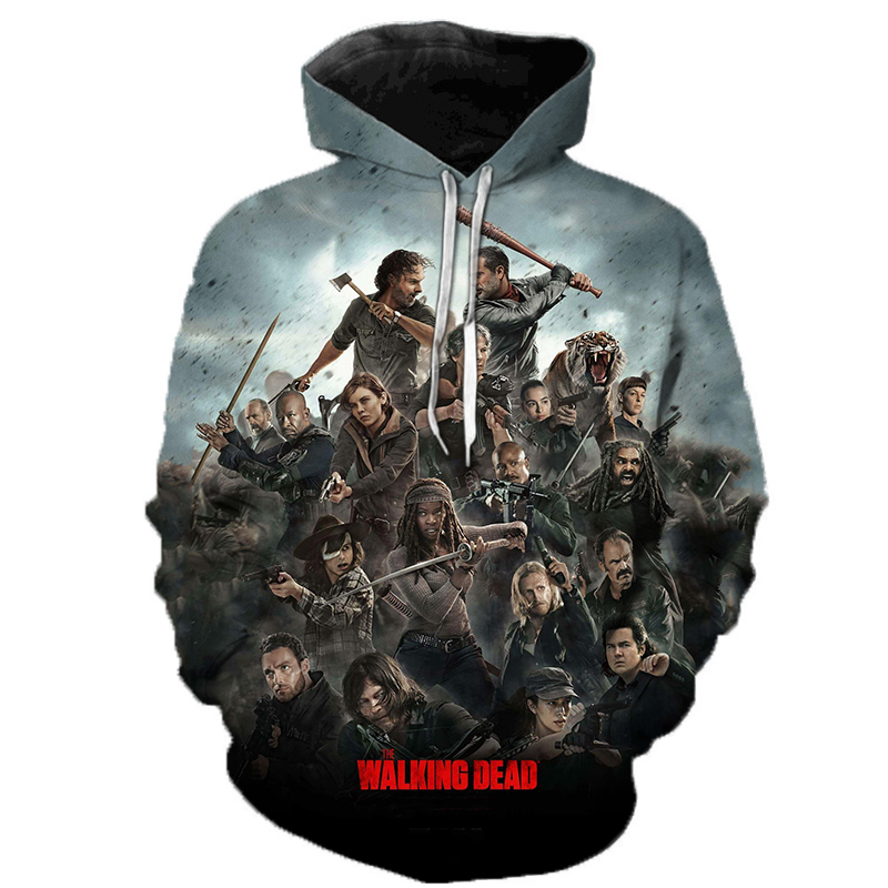 The Walking Dead 3D Printed Hoodie Sweatshirts Horror TV Drama Fashion Casual Pullover Men Women Halloween Streetwear Hoodies